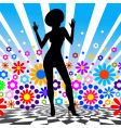 silhouette of dancing girl vector image