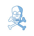 skull crossed bones danger poison symbol medical vector image vector image