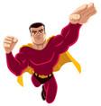 superhero flying 4 vector image vector image