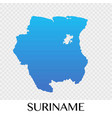 suriname map in south america continent design vector image vector image