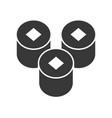 sushi rolls food and beverage set glyph design vector image vector image