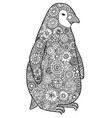 tangle pattern and penguin vector image vector image