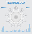 technology infographic with icons contains vector image vector image