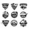 Transport Modes Monochrome Emblem Set vector image
