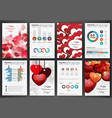 valentines day abstract backgrounds vector image