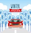 winter roads design vector image vector image