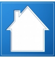Abstract house background Blueprint concept vector image