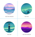 abstract logo design templates with gradient vector image