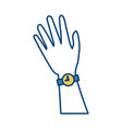 hand with wristwatch vector image