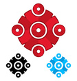 Logo template from circles Social network concept vector image