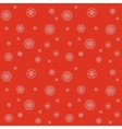 Christmas pattern with snowflakes on a red vector image