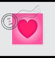 Happy Valentines Day Postage Stamp vector image