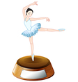 A ballerina dancer above the empty label vector image vector image