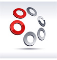 Abstract 3d icon vector image vector image