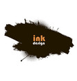 abstract background ink brush strokes vector image