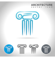 architecture blue icon vector image vector image
