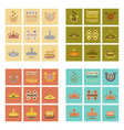 assembly flat icons poker symbols vector image vector image