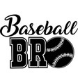 baseball brother on white background vector image vector image