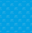 beach umbrella pattern seamless blue vector image