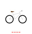 bicycle it is icon vector image vector image