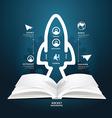 book diagram creative paper cut aerospace vector image vector image