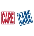 Care Rubber Stamps vector image vector image