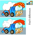 Cartoon of Finding Differences vector image