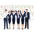 Corporate Business Team Enjoying Success and vector image vector image