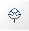 cotton flower icon line symbol premium quality vector image