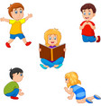 cute children collection vector image