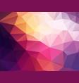 dark abstract polygonal background vector image vector image