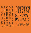 digital letters and numbers vector image