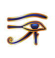 Eye of Horus isolated on white vector image