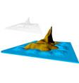 faroe islands abstract vector image vector image