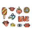 Fashionable patch set vector image vector image