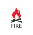 fire icon logo in flat style on a white background vector image vector image