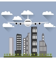 flying airplane image vector image vector image