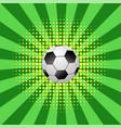 football ball icon on halftone green yellow vector image vector image