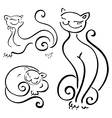Funny cats sketch vector image