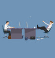 funny two managers in office vector image
