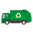 garbage truck isolated on a white background vector image