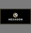gc hexagon logo design inspiration vector image vector image