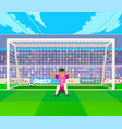 goalkeeper training at gates vector image vector image