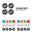 Hands insurance icons Save water and nature vector image vector image
