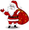 happy santa claus cartoon for you design vector image