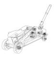 hydraulic floor jack outline vector image