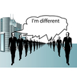Im different vector image vector image