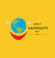 international day of happiness march 20 vector image vector image