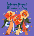 international womens day happy womens vector image vector image