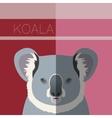 Koala flat postcard vector image vector image